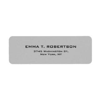 Silver Grey Elegant Modern Trendy Minimalist Return Address Label