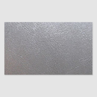 SILVER Grey Sparkle : Leather Look Finish Rectangular Sticker