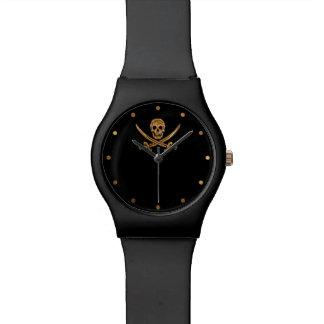 Silver Jolly Roger Watch