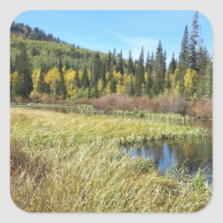 Silver Lake -Brighton, Utah Square Sticker