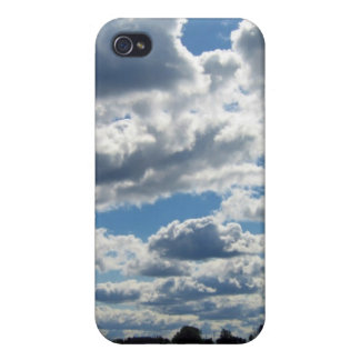 Silver Lining Clouds Sky iPhone 4 Cases