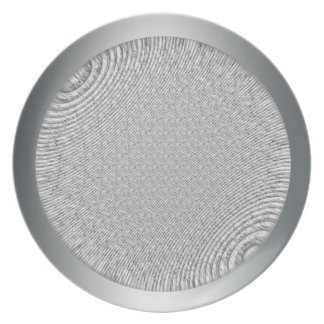 Silver metal effect texture plate