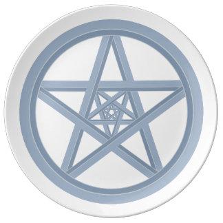 Silver Metal Star Plate