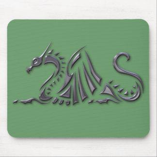 Silver Metallic Sea Dragon Mouse Pad