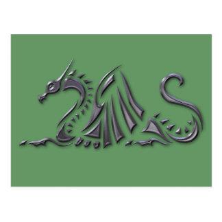 Silver Metallic Sea Dragon Postcards