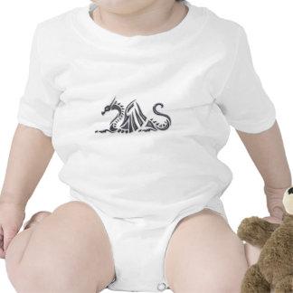 Silver Metallic Sea Dragon Tee Shirts