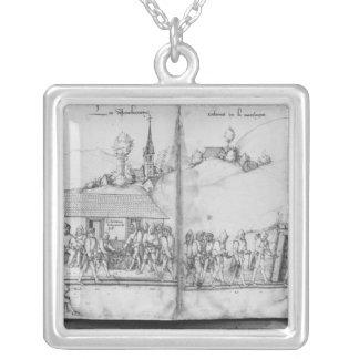 Silver mine of La Croix-aux-Mines, Lorraine 2 Silver Plated Necklace