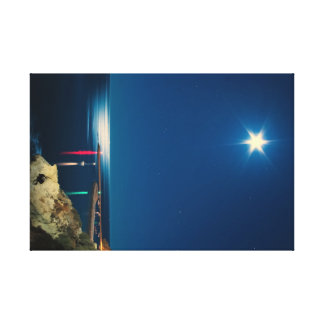 Silver Moon Stretched Canvas Print