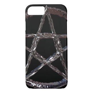 Silver Pentagram iPhone 7, Barely There iPhone 7 Case