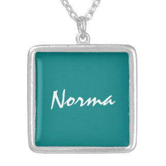Silver Plated necklace for Norma