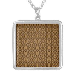 Silver Plated Square Necklace