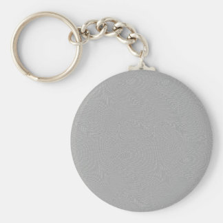 SILVER SCREEN BASIC ROUND BUTTON KEY RING