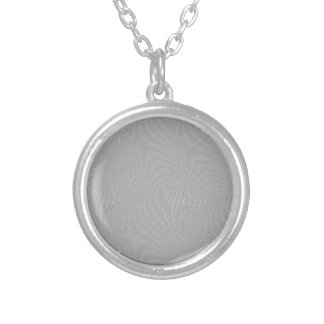 SILVER SCREEN ROUND PENDANT NECKLACE