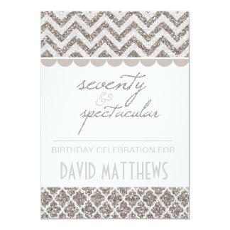 Silver Seventy and Spectacular Birthday Invite