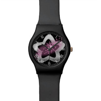 silver shiny star watch