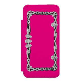 SILVER SKULLS and CHAINS (Print) Phone Cover Incipio Watson™ iPhone 5 Wallet Case