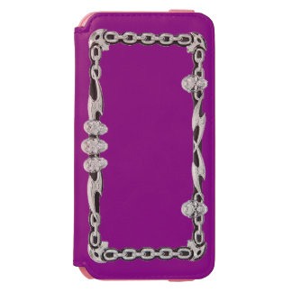 SILVER SKULLS and CHAINS (Print) Phone Cover Incipio Watson™ iPhone 6 Wallet Case