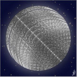 Silver Snow Moon Standing Photo Sculpture