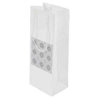 Silver Snowflakes Wine Gift Bag by Janz