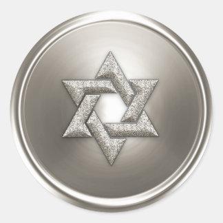Silver Star of David Envelope Seal