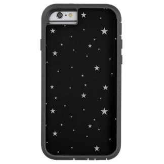 Silver Stars On Black Tough Xtreme iPhone 6 Case