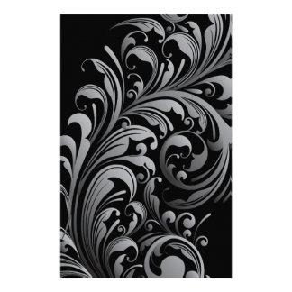 """Silver Swirl Double Sided Paper 5.5"""" x 8.5"""" 14 Cm X 21.5 Cm Flyer"""