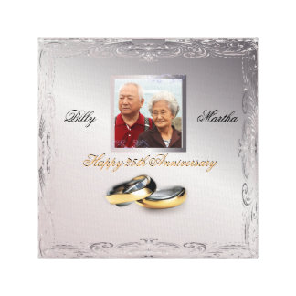 Silver Wedding Anniversary Canvas Print