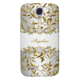 Silver White Gold Diamond Jewel Image Galaxy S4 Case