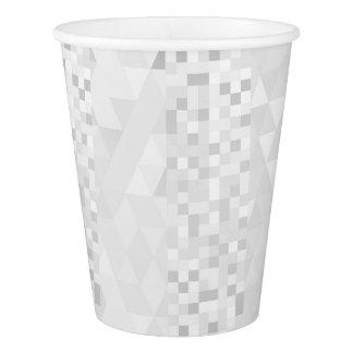 Silver White Gray Geometric Diamond Squares