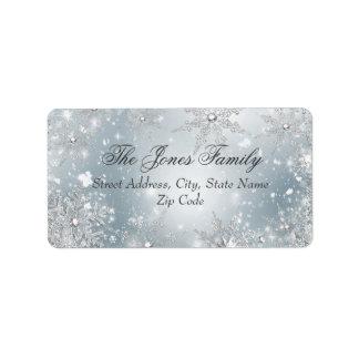 Silver Winter Wonderland Christmas Address Labels