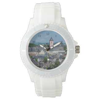 Silver wrist-watch with motive of victories watch