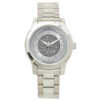 silver zodiac bracelet watch