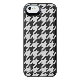 Silvery Houndstooth 2 iPhone SE/5/5s Battery Case
