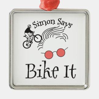 Simon Says bike it Christmas Ornament