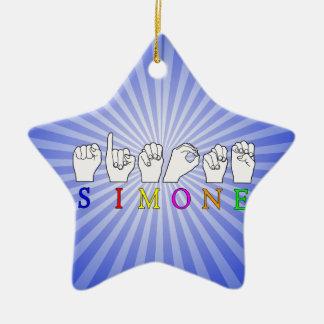SIMONE  ASL FINGERSPELLED NAME SIGN CHRISTMAS ORNAMENT