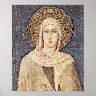 """Simone Martini -"""" Clare"""" Poster"""