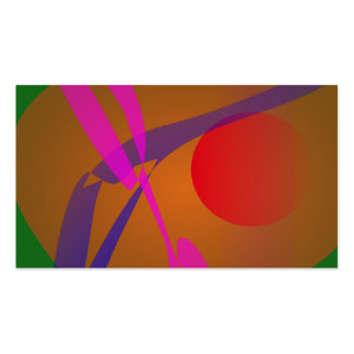 Simple Abstract Composition Green Business Card