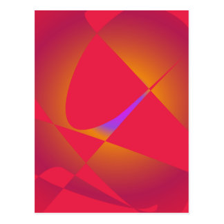 Simple Abstract Red Postcard