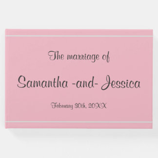 Simple and Basic Wedding Guest Book