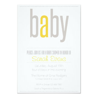 Simple and Sweet Baby Shower Invitation