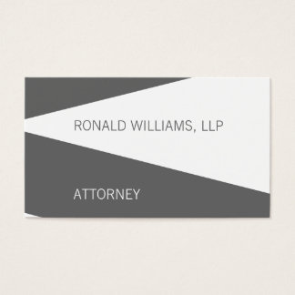 Simple Attorney Lawyer Business Cards Grey