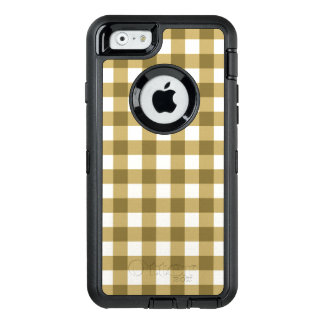 Simple Basic Tan Gingham Pattern OtterBox iPhone 6/6s Case