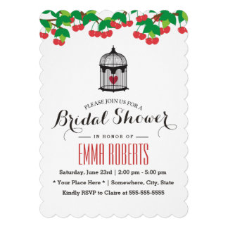Simple Birdcage Bridal Shower Invitations