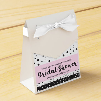 Simple Black and White, Bridal Shower Favour Box