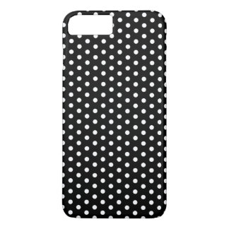 Simple Black and White Polka Dot Basic Pattern iPhone 7 Plus Case
