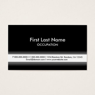 Simple black white customizable business cards