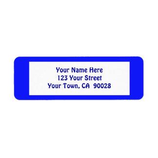 simple blue return address label