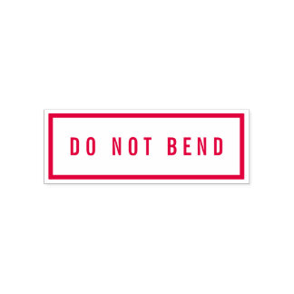 Simple Border Bold Red Do Not Bend Self-inking Stamp