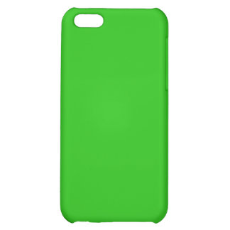 simple bright green color cover for iPhone 5C