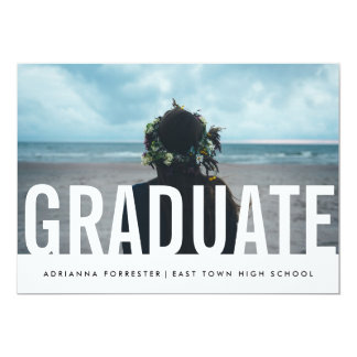 Simple Casual Chic Graduate Photo Card